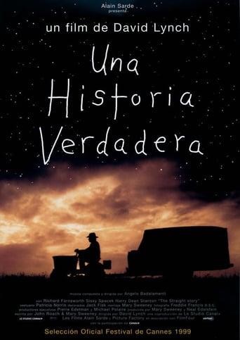 """Poster for the movie """"Una historia verdadera"""""""